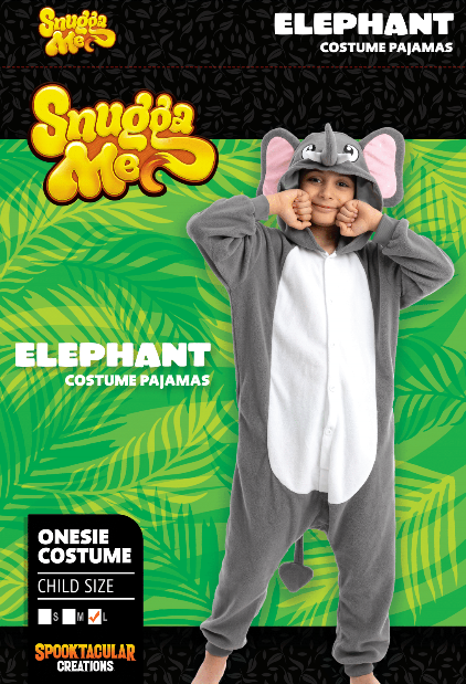 Elephant Pajamas Onesie - Child