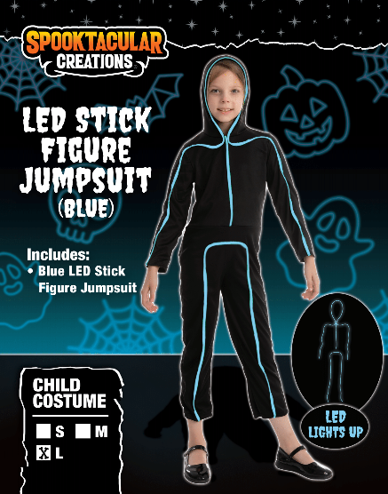 Blue LED Stick Figure - Child