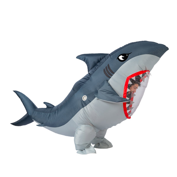 Inflatable Great White Shark Costume - Adult