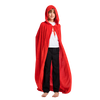 Long Hooded Cloak Velvet Cape Red Riding Hood Cosplay Costume