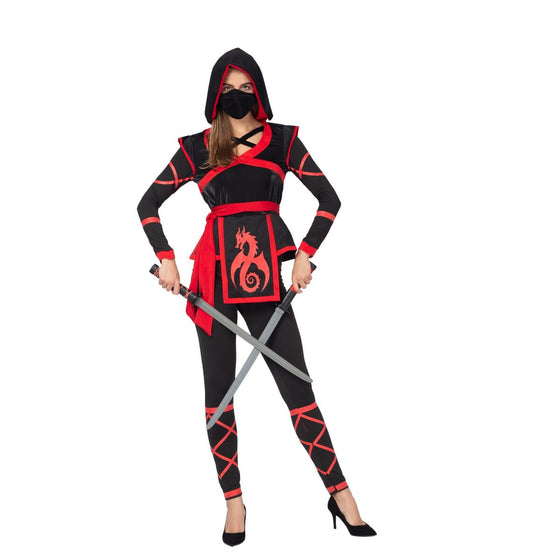 Sexy Halloween Darkness Ninja Warrior Costume for Women with Ninja Mask