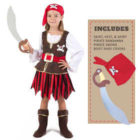 Pirate Girl Deluxe Costume Set