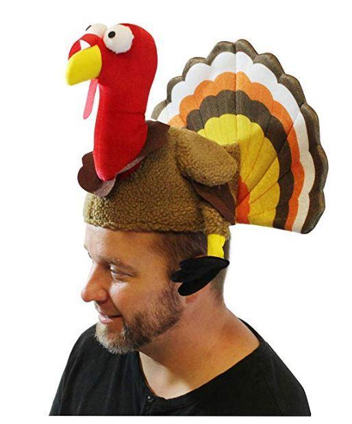 2 Turkey Hats for Happy Thanksgiving Party Costume, Outfit, Dress, Decorations - Spooktacular Creations