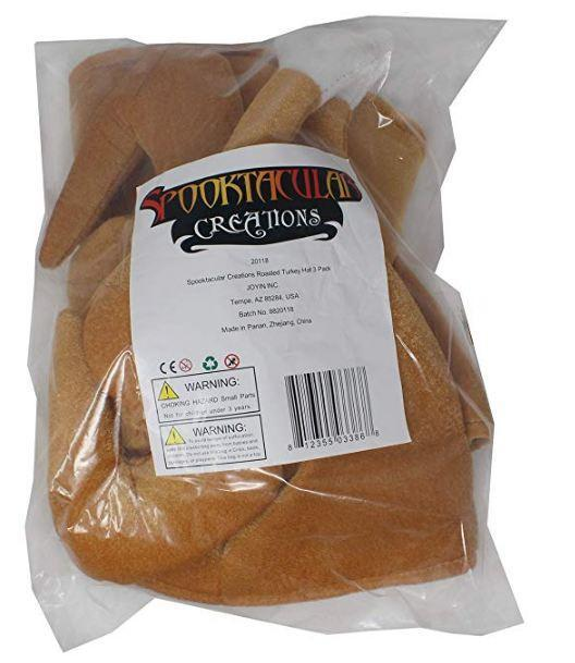 Plush Roasted Turkey Hats 3 Pack