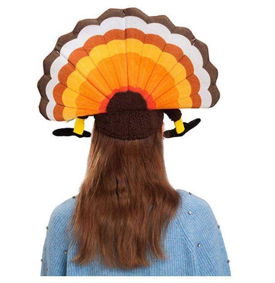 2 Turkey Hats for Happy Thanksgiving Party Costume, Outfit, Dress, Decorations
