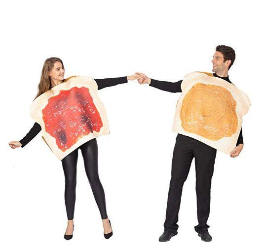 Butter and Jelly PBJ Costume Adult Couple Set