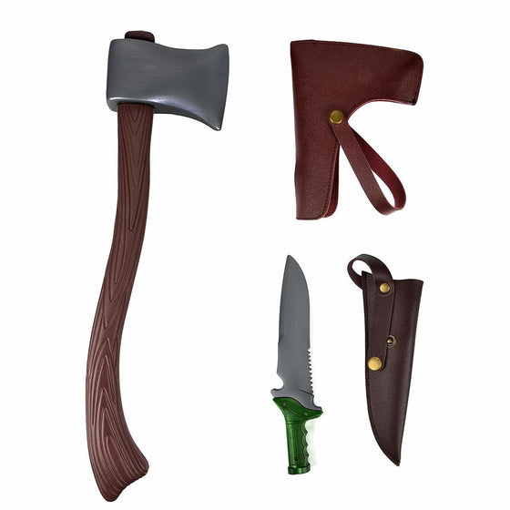 Lumberjack Axe & Knife Costume Accessory Set