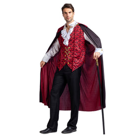 Renaissance Medieval Scary Vampire Halloween Costume for Men - Adult