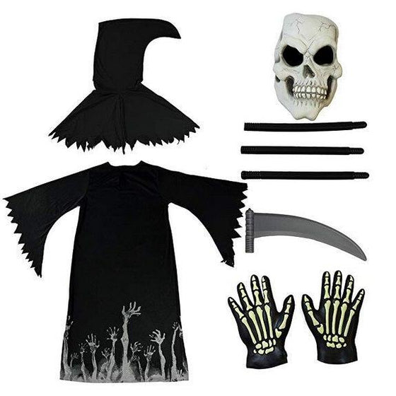 Glow-in-the-Dark Grim Reaper Costume Deluxe Set