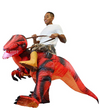 Inflatable Ride-On Red Raptor Costume -Adult