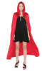 Hooded Velvet Cloak Halloween Women Witch Cape Costume Accessory