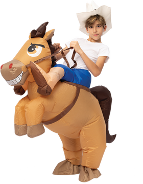 Inflatable Ride-On Cowboy Costume - Child