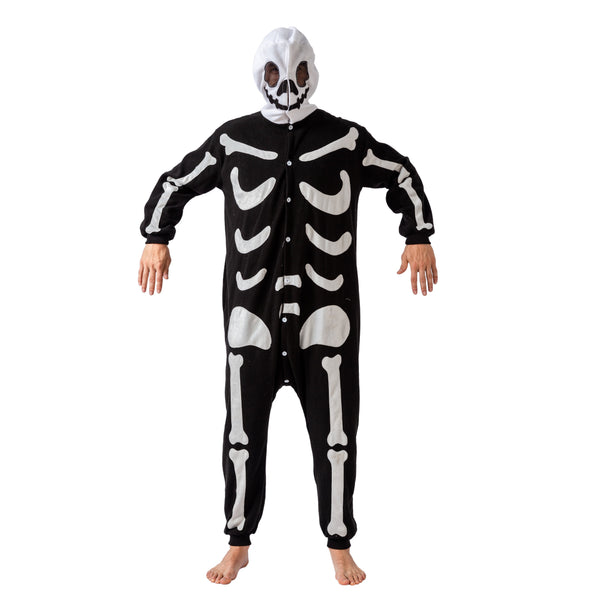 Skeleton Onesie Pajama Costume - Adult - Spooktacular Creations