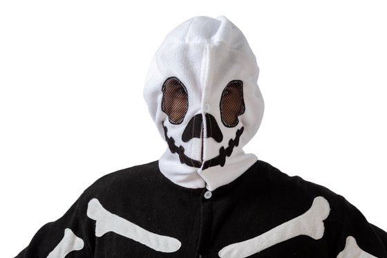 Skeleton Onesie Pajama Costume - Adult