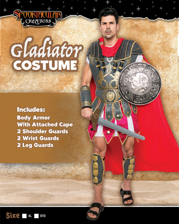Brave Men's Roman Gladiator Costume Set
