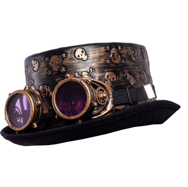 Victorian Steampunk Top Hat w/Classic Goggles Vintage Accessories Set for Adult - Spooktacular Creations