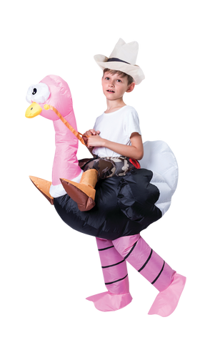 Ride-On Ostritch Inflatable Costume - Kids