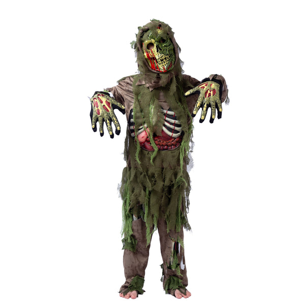 Green Swamp Zombie Costume - Child