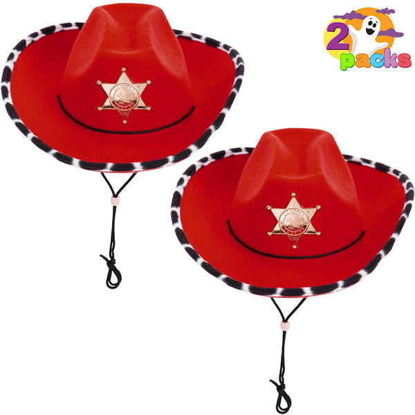 Red Cowboy Hats, 2 Packs