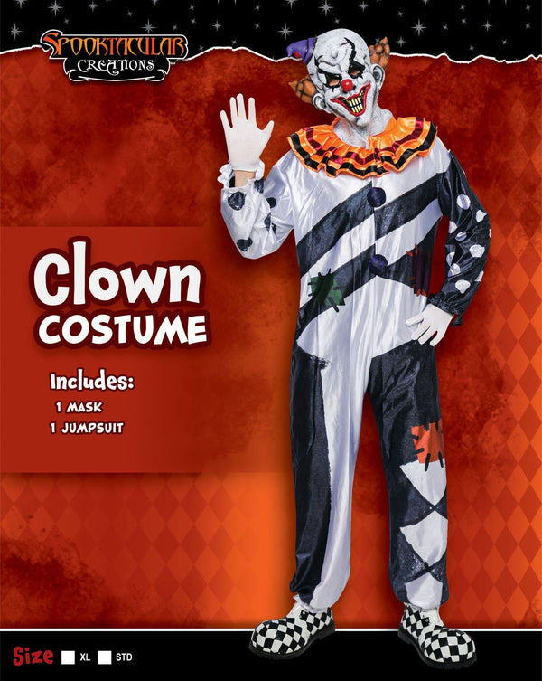 Scary Clown Costume Set - Adult
