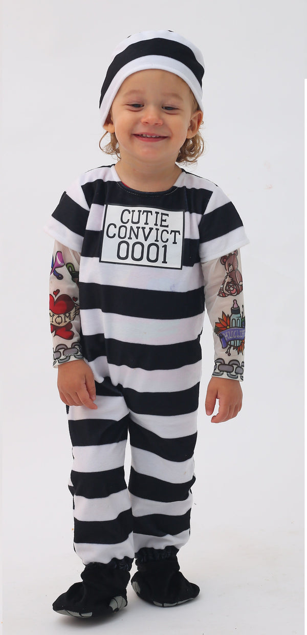 Prisoner Infant Costume Set