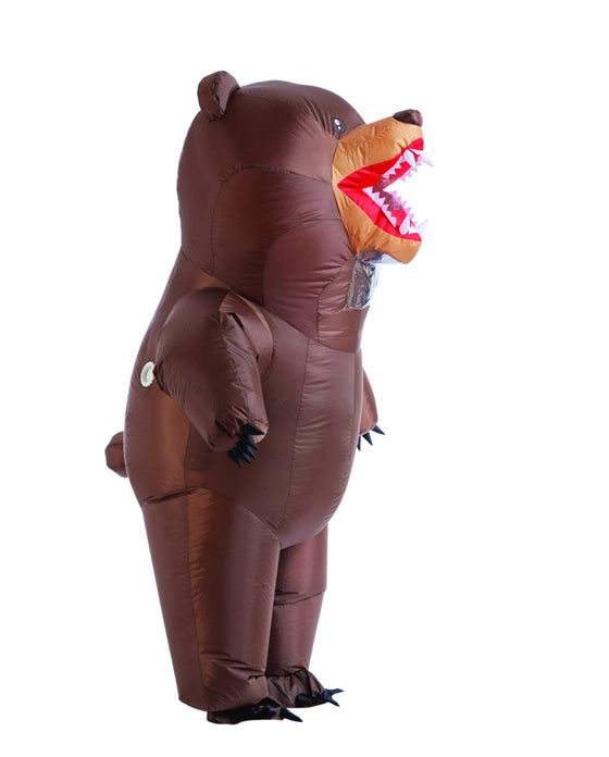 Inflatable Costume Full Body Bear Air Blow-up Deluxe Halloween Costume - Adult Size