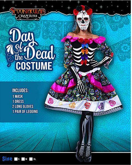 Women's Day The Dead Spanish Costume Set - Spooktacular Creations