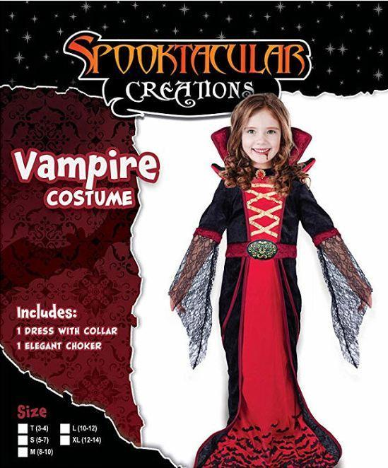 Royal Vampire Costume for Girls Deluxe Set