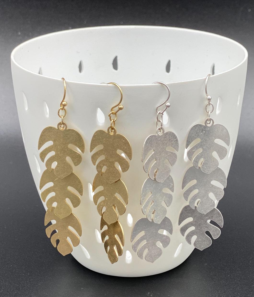 Matte Monstera Dangles