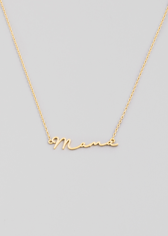 Mama Cursive Necklace