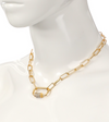 Bling Carabiner Chain Necklace