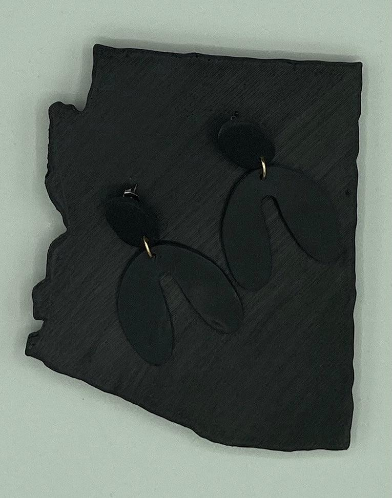 Matte Black Clay Earrings