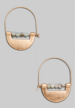 Load image into Gallery viewer, Metal And Stone Earrings