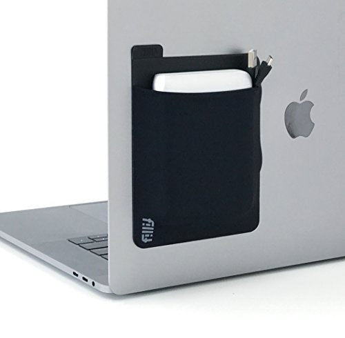 Fillit Pocket Black, Adhesive Pocket Storage for Ext. Hard Drives, Battery Packs, Cables & Other Small Items