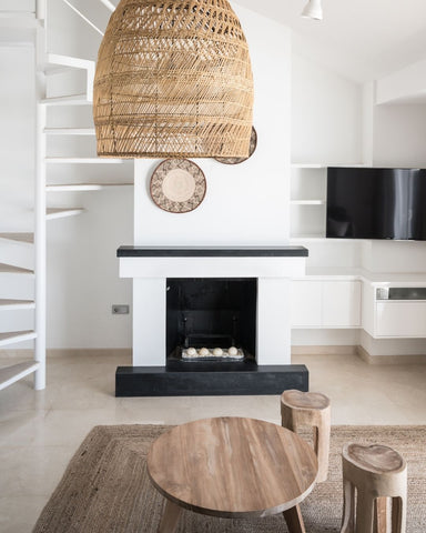 Simple fireplace for any decor style