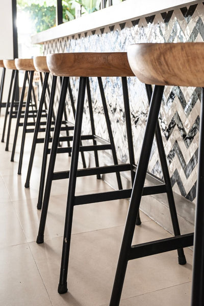 Restaurant bar chair and zellige tiles