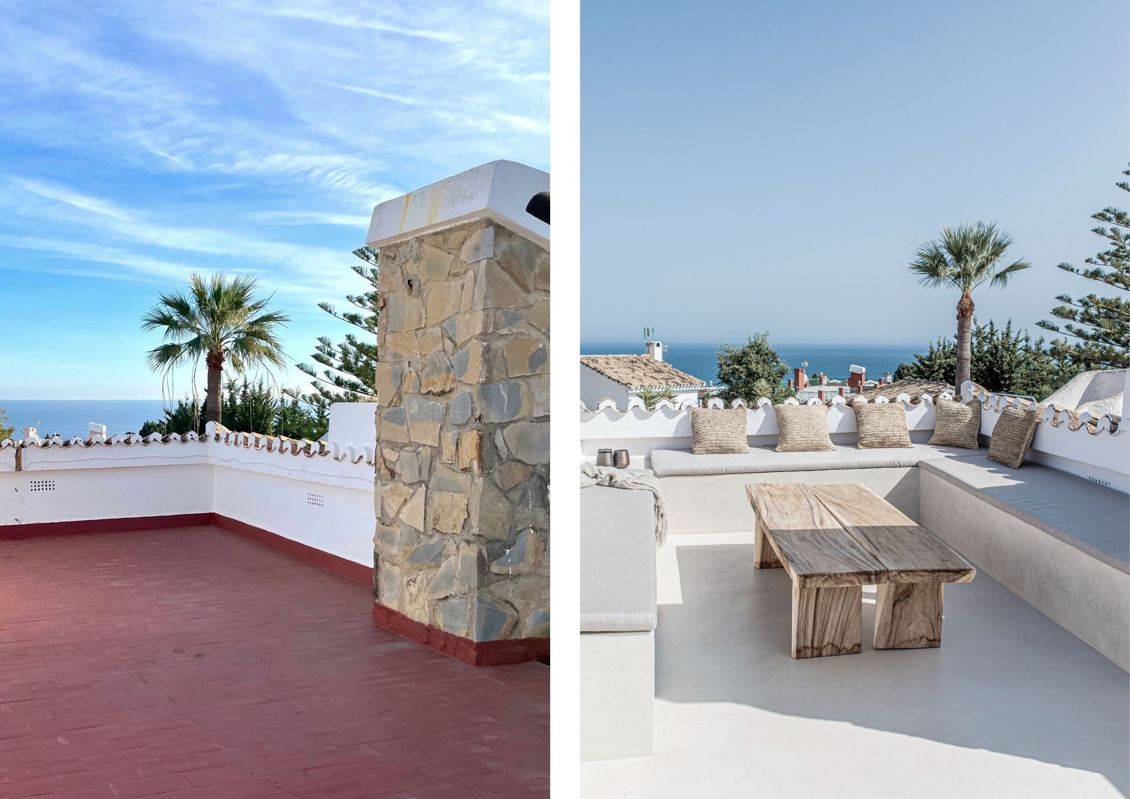 before and after roof terrace photo