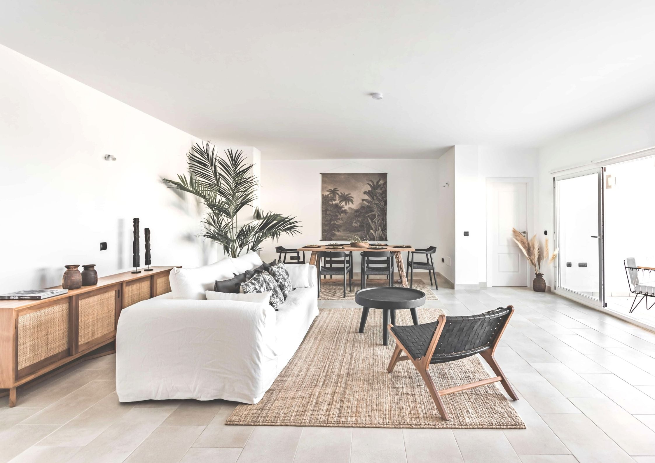 Layering with textures living room