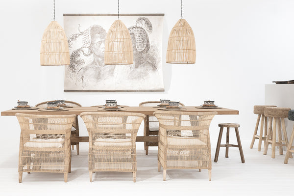 Dining room inspire Malawi chair around big dining table