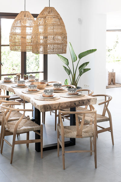 Suar Wood plank table for dining room