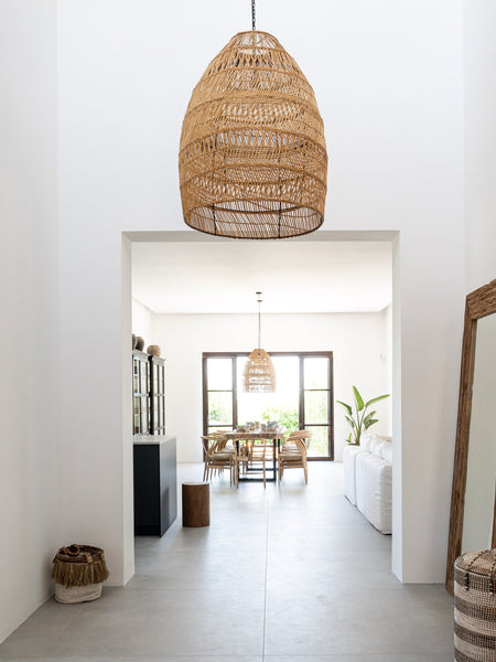 Entrance hallway big natural lamp