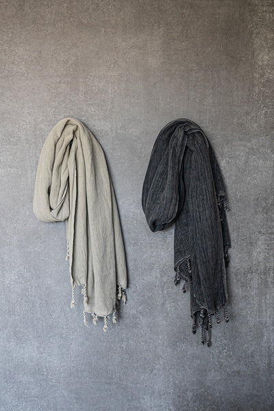Stunning stonewashed bathroom towels