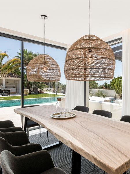 Natural blank table in Marbella Villa