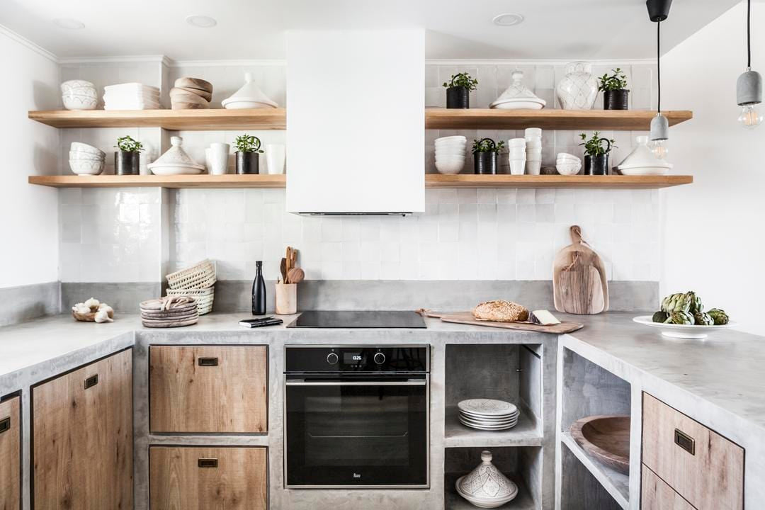 Zoco Home Kitchen with Open Shelves