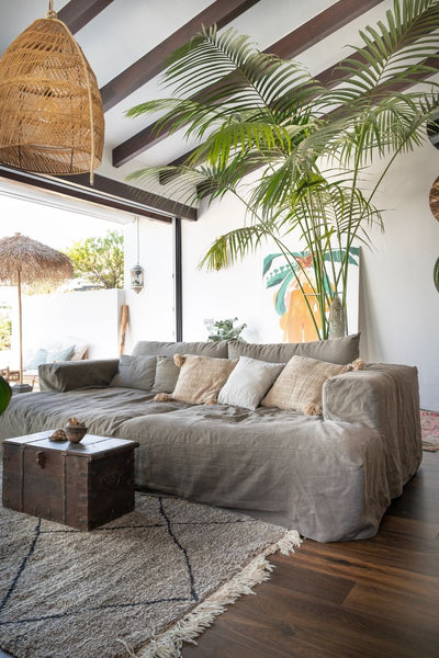 Boho style interior design in Marbella