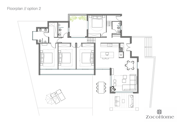 Interior design floor plan and measures