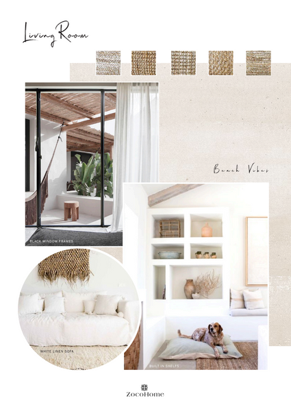 Interior design Mood Board Marbella Villa