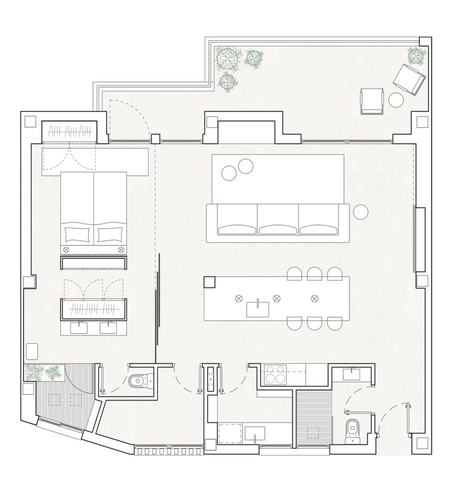 Interior design services including floor plans, architectural and project management