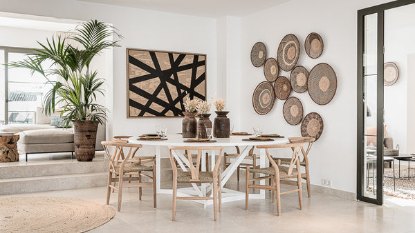 White round table in Marbella