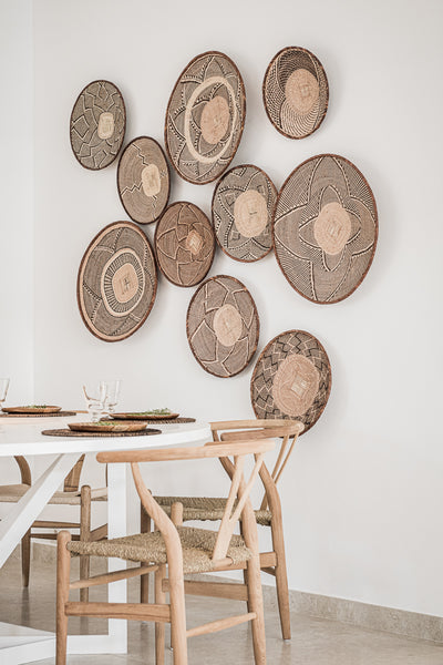 Binga baskets are great for storage and for wall art